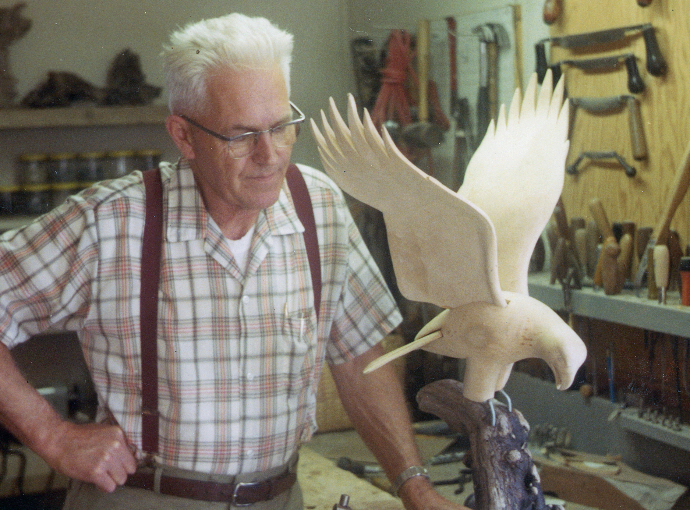 Wendell H. Gilley with Eagle, November 1970