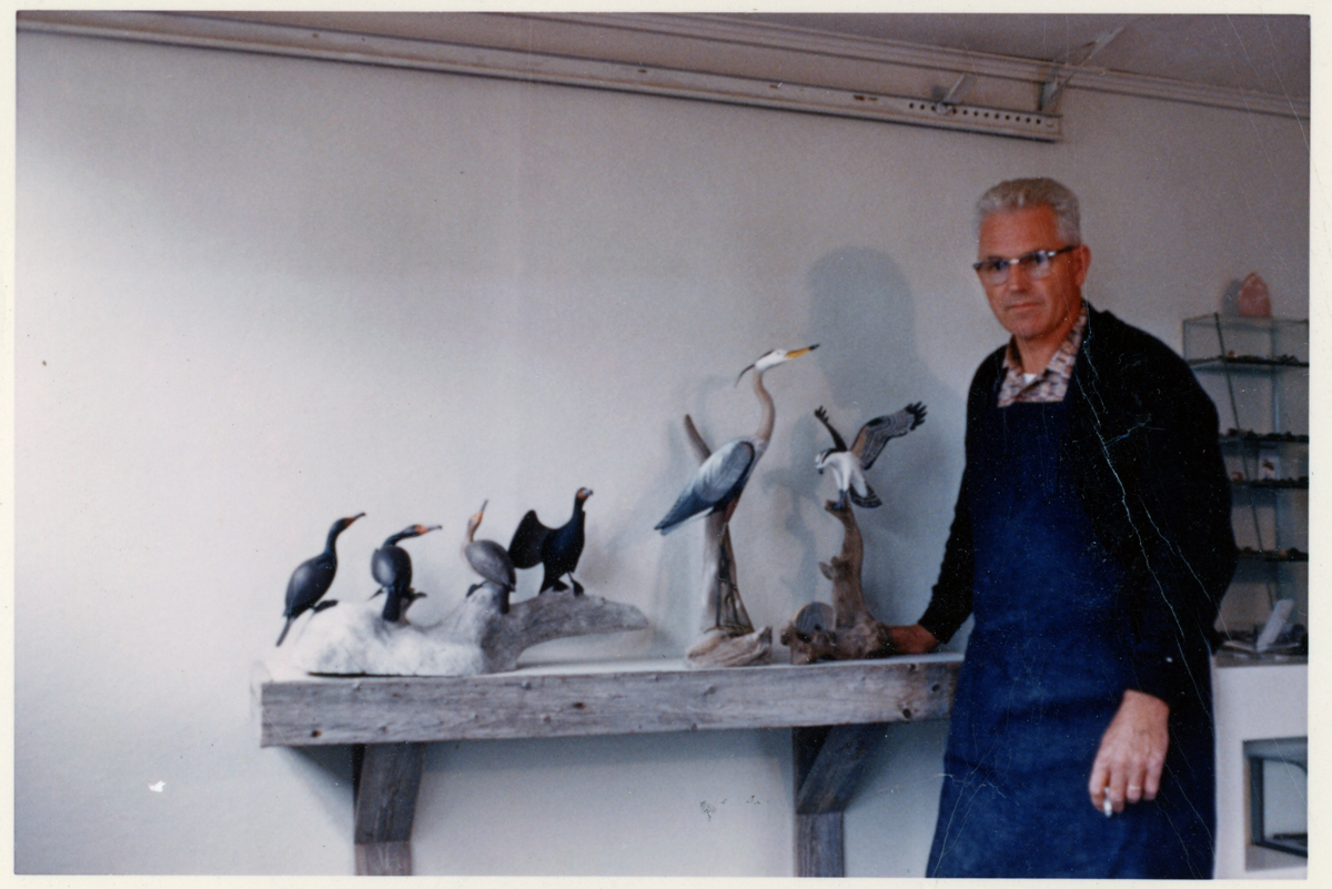 Wendell H. Gilley in his workshop - Dec. 1960