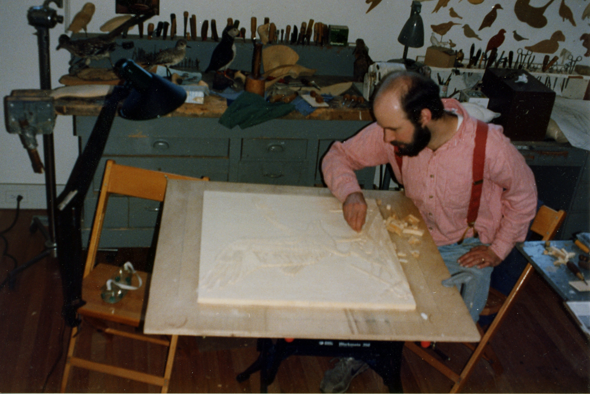 Steven Valleau in his workshop